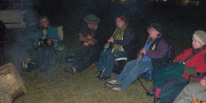 The Badja River Quartet - an impossibly good scratch band - enjoying the campfire.